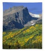 310221-v-hallet Peak In Autumn V  Fleece Blanket