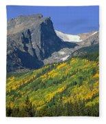 310221-hallett Peak In Autumn  Fleece Blanket