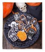 Halloween Cookies Fleece Blanket