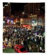 Halloween Draws Tens Of Thousands To Celebrate On 6th Street Fleece Blanket