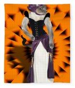 Halloween Hussy Fleece Blanket