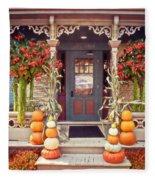 Halloween In A Small Town Fleece Blanket