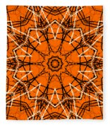 Halloween Kaleidoscope 12 Fleece Blanket