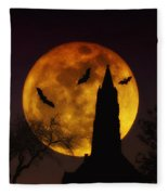Halloween Moon Fleece Blanket