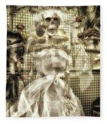Halloween Mrs Bones The Bride Vertical Fleece Blanket