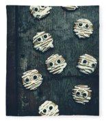 Halloween Mummy Cookies Fleece Blanket
