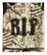 Halloween Rip Rest In Peace Headstone Fleece Blanket