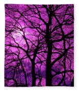 Halloween Trees No 3 By Dm Carpenter Fleece Blanket