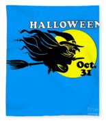 Halloween Witch #2 Fleece Blanket