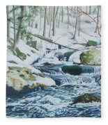 Hamburg Mountain Stream Fleece Blanket