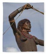 Hamer Tribe Woman, Ethiopia  Fleece Blanket