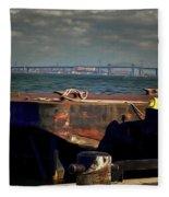 Hamilton Harbor- Pier 8 Fleece Blanket