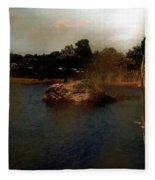 Hammonasset Sunset Fleece Blanket