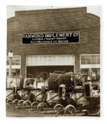 Hammond Implement Company Farm Machinery 1924 Fleece Blanket