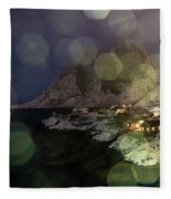 Hamnoy During A Storm Fleece Blanket