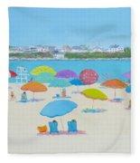 Hampton Beach And Boars Head Fleece Blanket