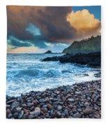Hana Bay Pebble Beach Fleece Blanket