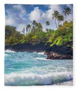 Hana Bay Waves Fleece Blanket