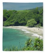 Hana Coast, Hamoa Beach Fleece Blanket