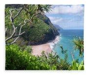 Hanakapiai Beach Fleece Blanket