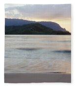 Hanalei Bay Evening Fleece Blanket
