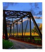 Hanalei Bridge Fleece Blanket