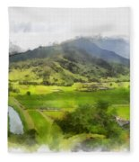 Hanalei Valley Fleece Blanket