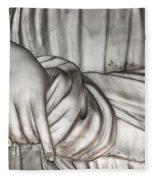 Hand And Robe Fleece Blanket
