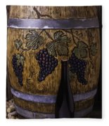 Hand Carved Wine Barrel Fleece Blanket