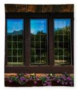 Hand Hewn Oak Frames Fleece Blanket