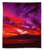 Hand Of Fire Fleece Blanket