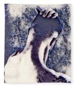 Hand On Head Fleece Blanket