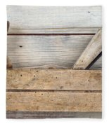 Hand Tool - Old Wood Planer Fleece Blanket
