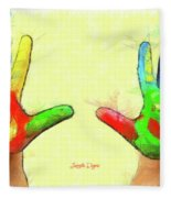 Hands In Art Fleece Blanket