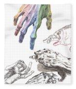 Hands Of The Masters Fleece Blanket