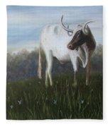 Handsome Longhorn Fleece Blanket