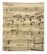 Handwritten Score For Hjertets Melodier, Opus 5 Fleece Blanket