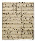 Handwritten Score Fleece Blanket