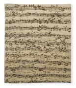 Handwritten Score For Mass In B Minor Fleece Blanket
