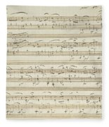 Handwritten Score For Waltz In Flat Major Fleece Blanket