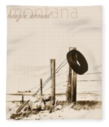 Hangin Around Montana Fleece Blanket