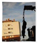Hanging Bull Fleece Blanket