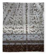 Hanging Butterflies B W  Fleece Blanket