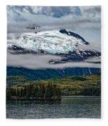 Hanging Glacier Fleece Blanket