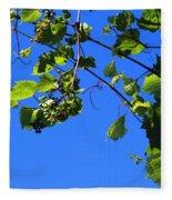 Hanging Grapes Fleece Blanket