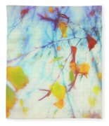 Hanging Leaves Fleece Blanket