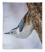 Hanging Nuthatch Fleece Blanket
