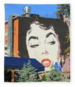 Hanging Out With Elizabeth Taylor Fleece Blanket