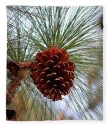 Hanging  Pine Cone Fleece Blanket