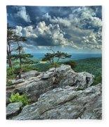 Hanging Rock Overlook Fleece Blanket